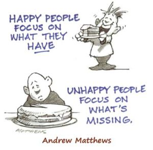 Happiness Podcasts by Andrew Matthews cartoon